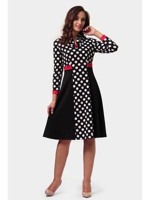 Платье черное в горох | 5626801