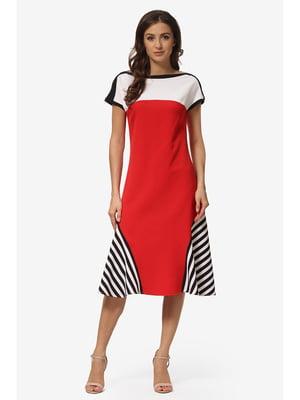 Сукня біло-червона у смужку   5626887