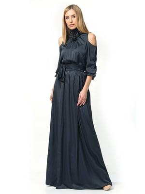 Платье графитового цвета | 5626901