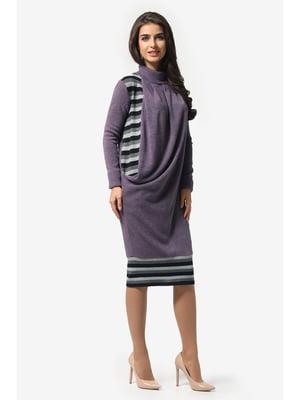 Платье сиреневое в полоску | 5626909