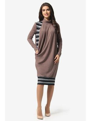 Сукня кавового кольору в смужку   5626910