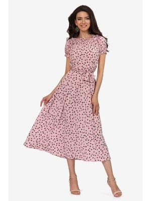 Платье розовое с принтом | 5626962