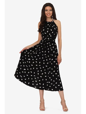 Платье черное с принтом | 5626971
