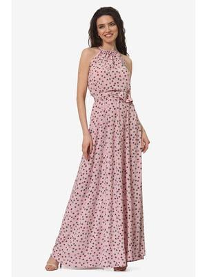 Сарафан рожевий з принтом | 5626973
