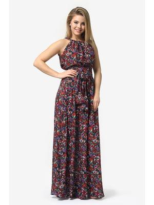 Платье-сарафан в цветочный принт   5626983
