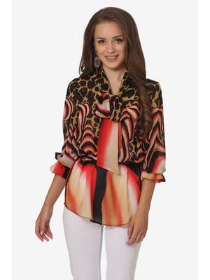 Блуза комбінованого забарвлення | 5627001