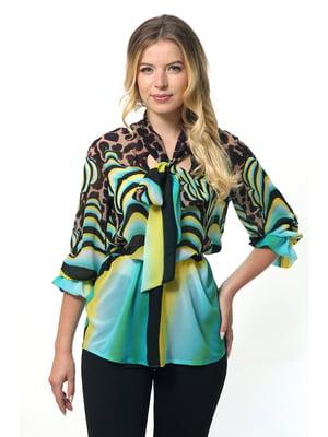 Блуза комбинированной расцветки | 5627002