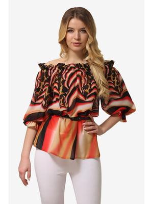 Блуза комбинированной расцветки | 5627015