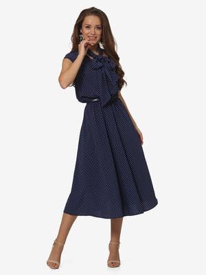 Платье темно-синее в горох | 5627016