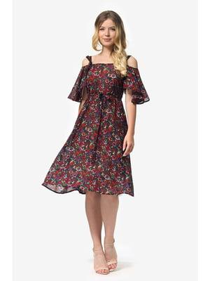 Платье в цветочный принт | 5627036