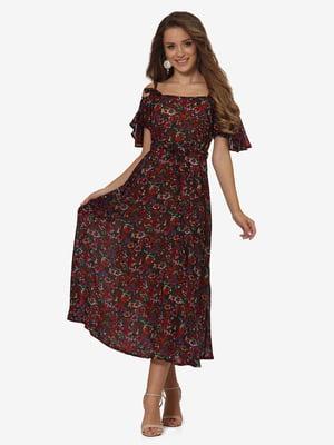 Платье в цветочный принт | 5627037