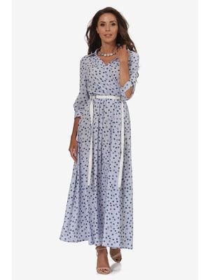Сукня блакитна з принтом | 5627065