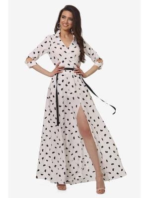 Сукня біла з принтом | 5627067