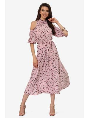 Платье розовое с принтом | 5627094