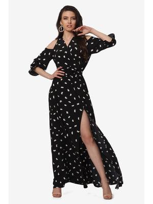 Платье черное с принтом | 5627115