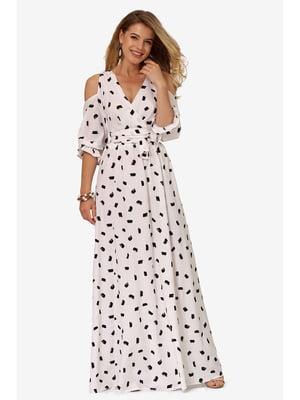 Платье белое с принтом | 5627116