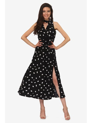 Платье черное с принтом | 5627160