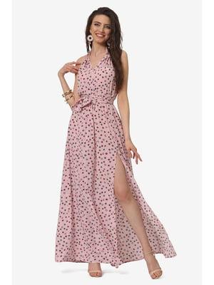 Сарафан рожевий з принтом | 5627180