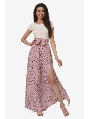 Юбка розовая с принтом | 5627210