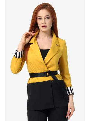 Жакет чорно-жовтий | 5627333