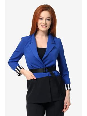 Жакет черно-синий | 5627335