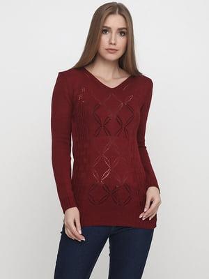 Пуловер бордовый | 5628540
