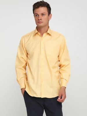 Сорочка морквяного кольору в смужку | 5628503