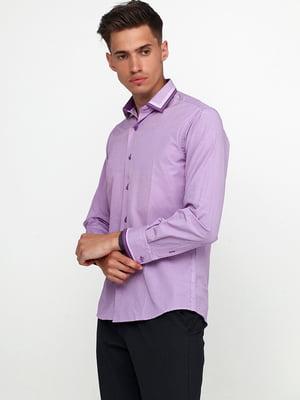 Рубашка сиреневая в клетку | 5628508