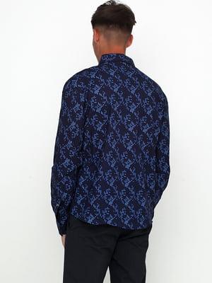 Рубашка синяя с принтом | 5628518