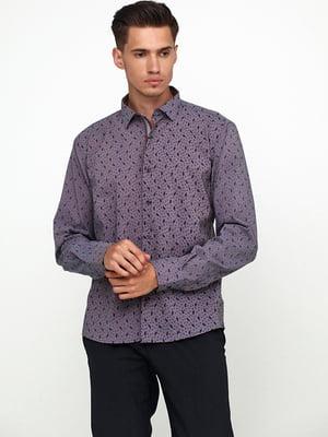 Сорочка кольору фрезії з принтом | 5628532