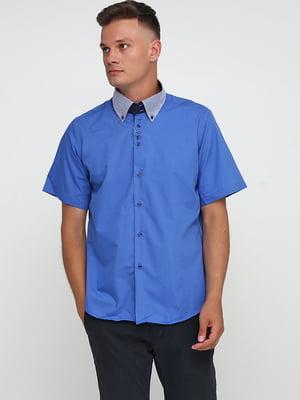 Сорочка синя в смужку | 5628547