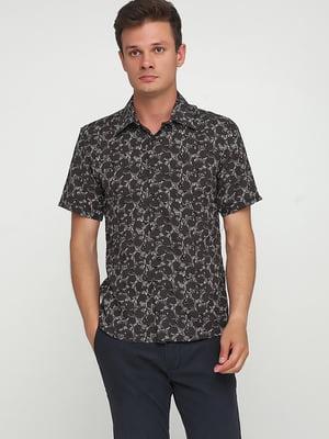 Сорочка чорна з принтом | 5628549