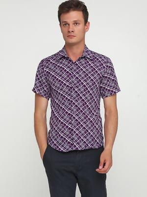 Рубашка фиолетовая с принтом   5628550