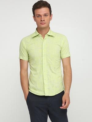 Рубашка салатового цвета с принтом   5628551
