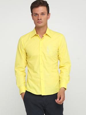 Сорочка лимонного кольору з декором | 5628552