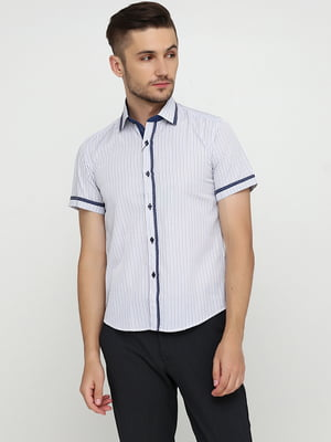 Рубашка джинсового цвета в полоску | 5628556
