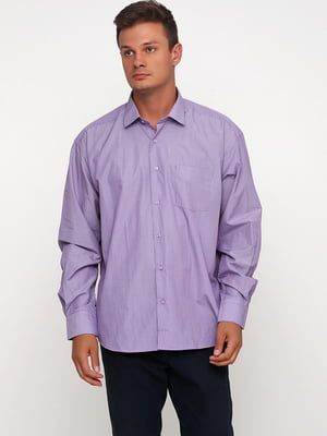 Рубашка сиреневая в полоску | 5628531