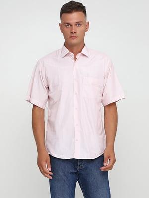 Сорочка рожевого кольору в смужку | 5628545