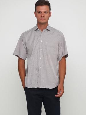 Сорочка бежевого кольору в смужку | 5628555