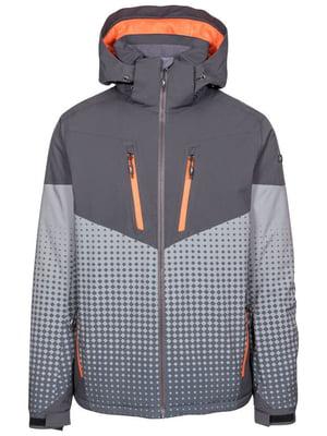 Куртка горнолыжная комбинированного цвета в ромбы | 5627394
