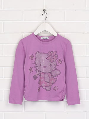 Лонгслів фіолетовий з малюнком | 5628638