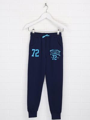 Штани спортивні сині в принт   5628674