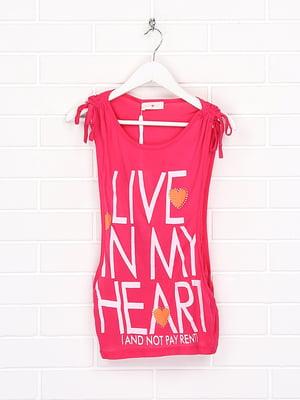 Блуза розового цвета в принт   5628701