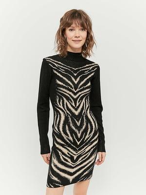 Сукня чорна з принтом   5287405