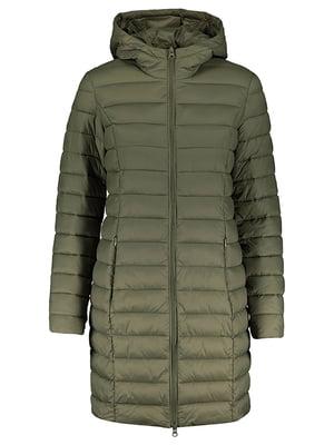 Пальто оливкового кольору | 5375471