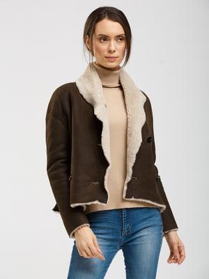 Куртка-дубленка коричневая | 5629508