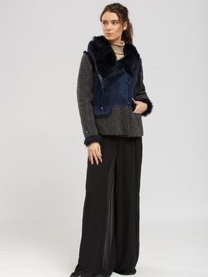 Куртка-дублянка сіро-синя | 5629515