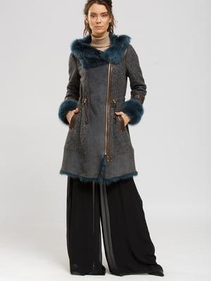 Куртка-дублянка сіро-синя | 5629517
