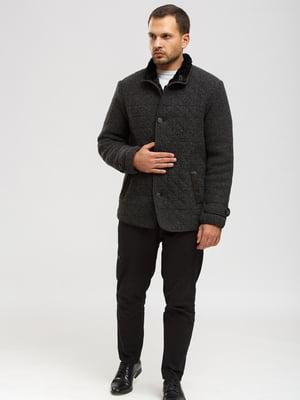 Куртка-дубленка темно-серая | 5629519