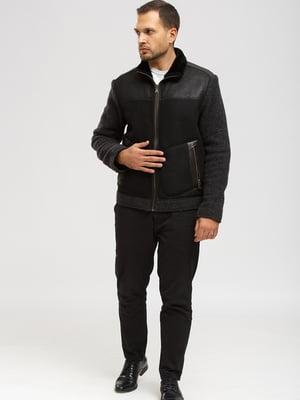 Куртка-дубленка черная | 5629521